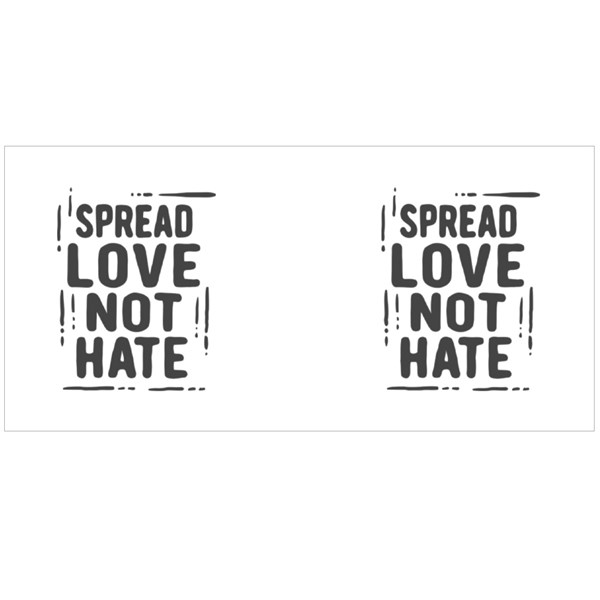 Spread Love Not Hate Colour Mugs