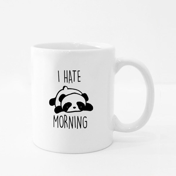 I Hate Morning Sleeping Panda Colour Mugs