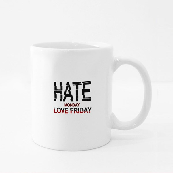 Hate Monday Love Friday 彩色杯