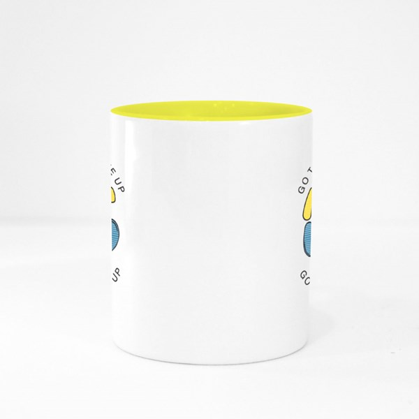 Go to Fight Not to Give Up Colour Mugs