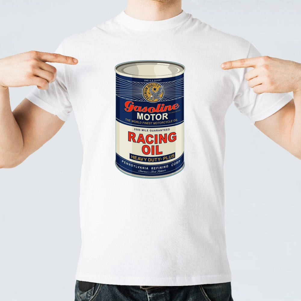 Racing Gasoline Oil Motorcycle T-Shirts