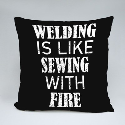 Like Sewing With Fire Throw Pillows