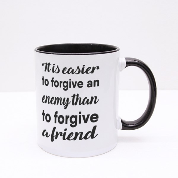 It Is Easier to Forgive Colour Mugs