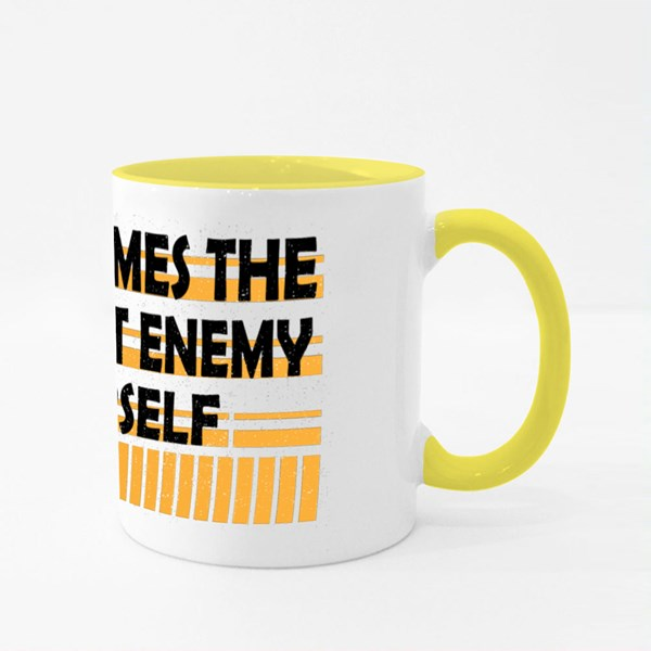Sometimes the Closest Enemy Colour Mugs