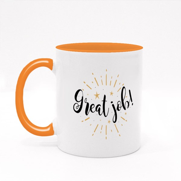 Great Job With Fireworks Colour Mugs
