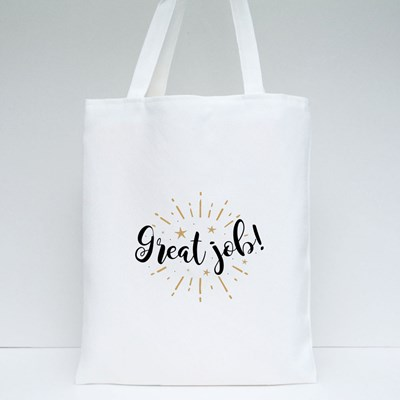 Great Job With Fireworks Tote Bags