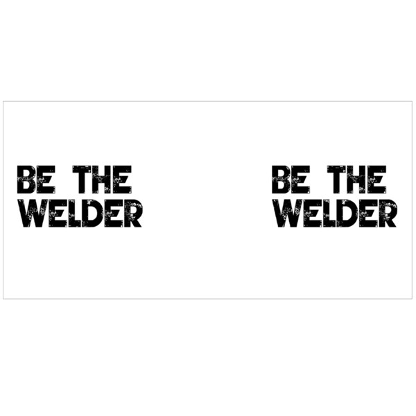 Be the Welder Typography Colour Mugs