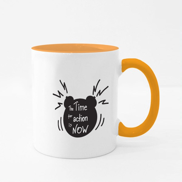 The Time for Action Is Now Colour Mugs