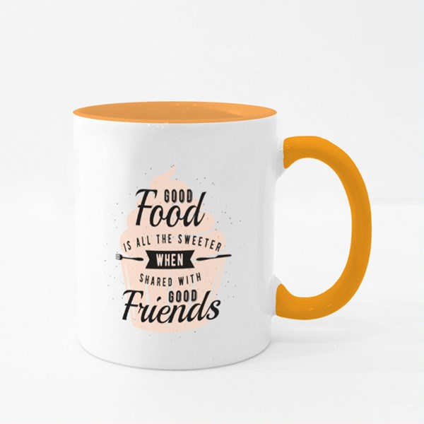 Shared With Good Friends Colour Mugs
