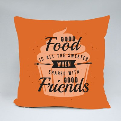 Shared With Good Friends Throw Pillows
