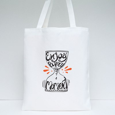 Enjoy Every Moment Tote Bags