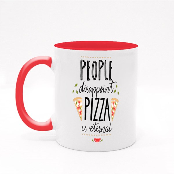 People Disappoint, Pizza Colour Mugs