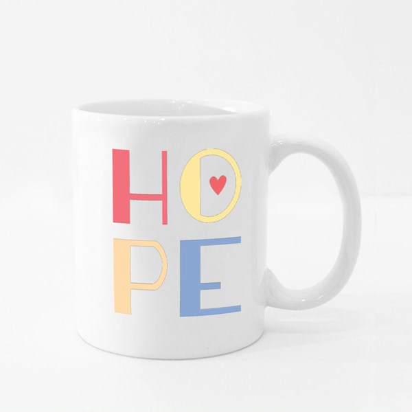 Hope Square Font Vector Text Colour Mugs