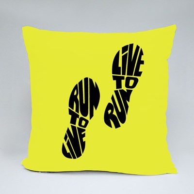 Live to Run Run to Live Throw Pillows