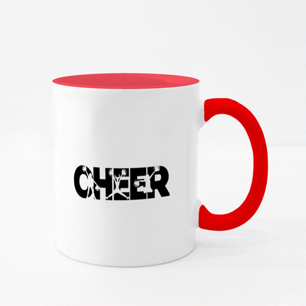 Cheerleader Silhouette Colour Mugs