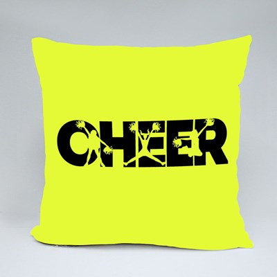 Cheerleader Silhouette Throw Pillows