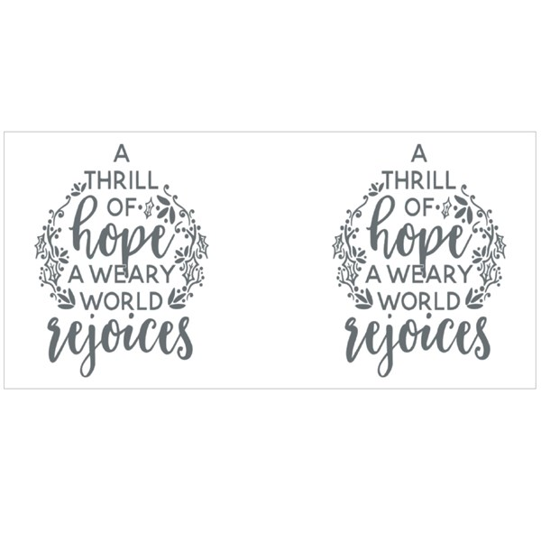 A Thrill of Hope Quotes Colour Mugs