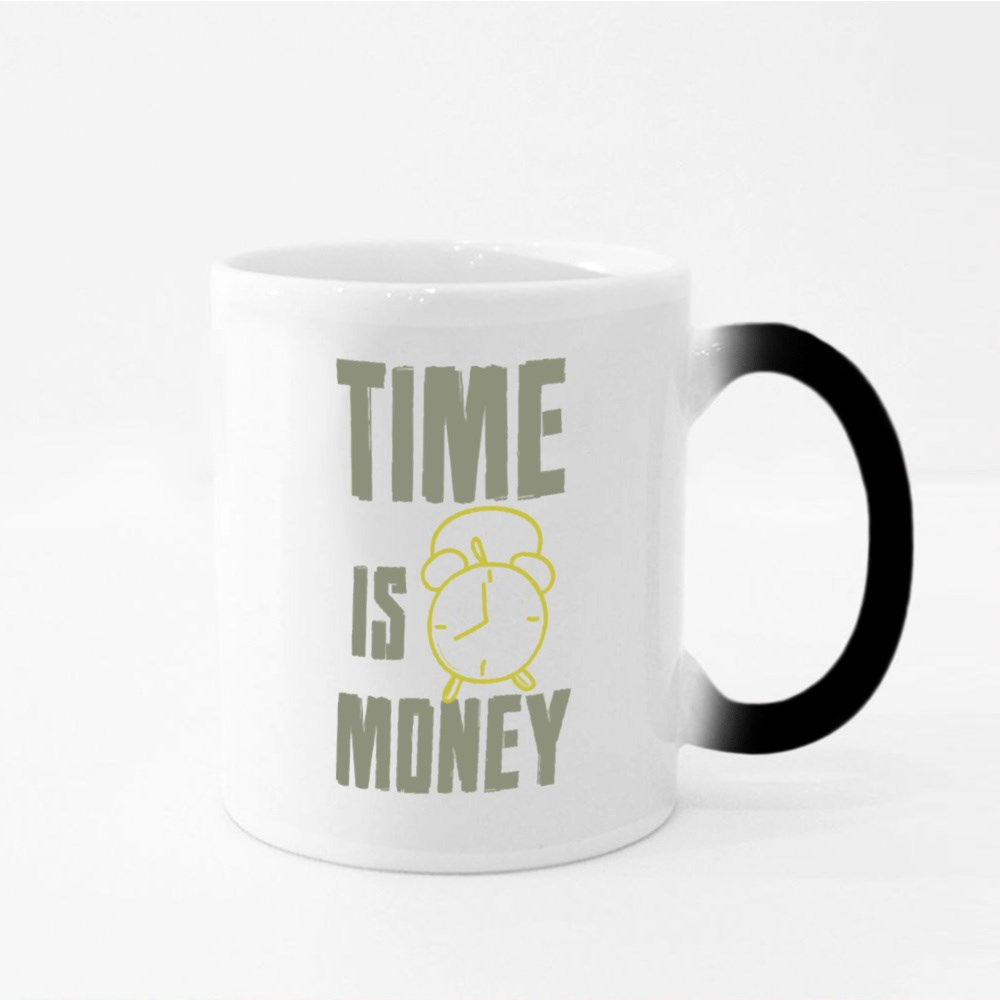 Time Related to Money Magic Mugs