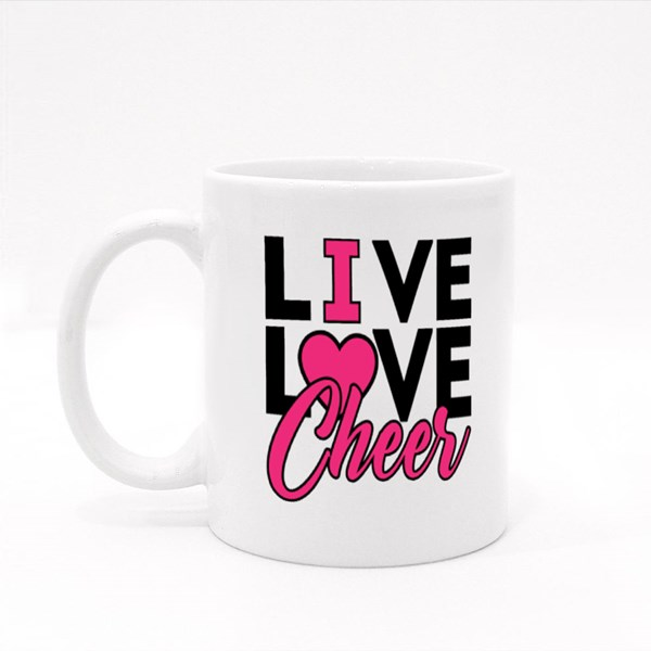 Live Love Cheer Colour Mugs