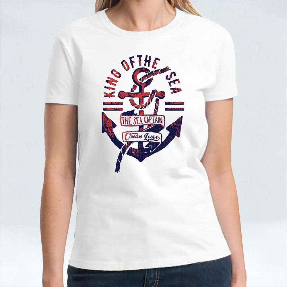 Vintage Anchor Typography T-Shirts
