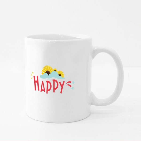 Happy Sunflower Colour Mugs