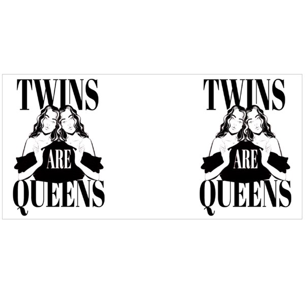 Twins Are Queens Colour Mugs