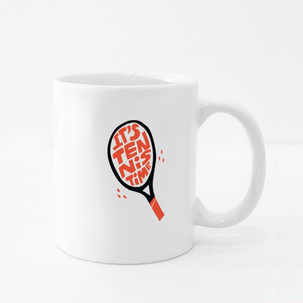 It's Tennis Time Colour Mugs