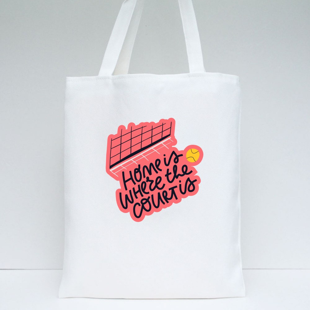 Home Is Where the Court Is Tote Bags