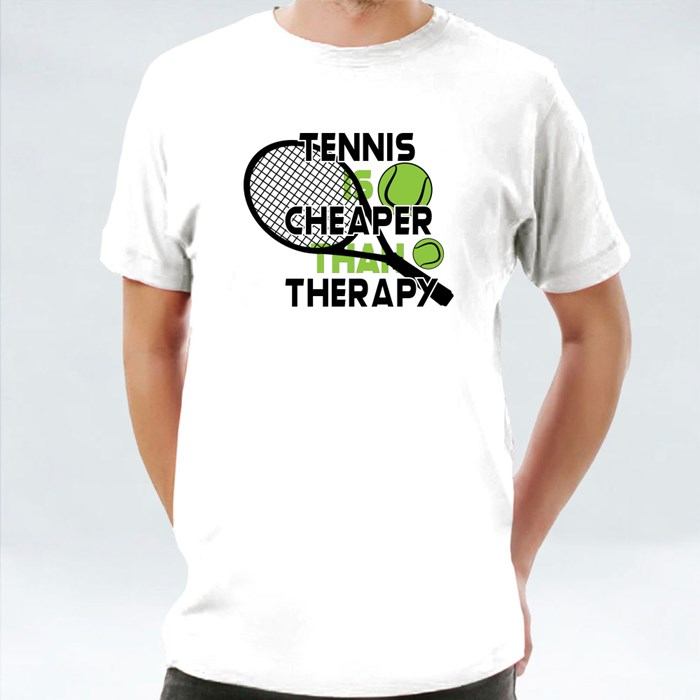 Tennis Is Cheaper Than Therapy 短袖T恤