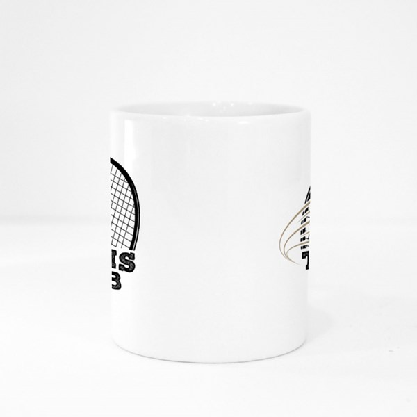 Tennis Club With Tennis Racket Colour Mugs