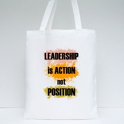 Leadership Is Action 帆布袋