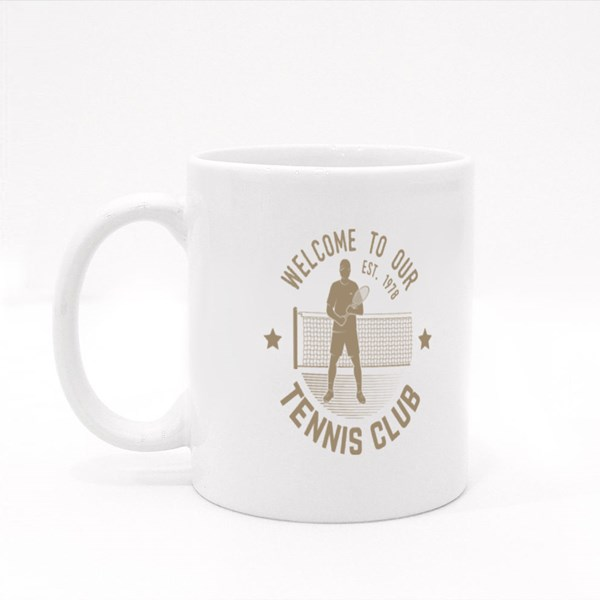 Welcome to Our Tennis Club Colour Mugs