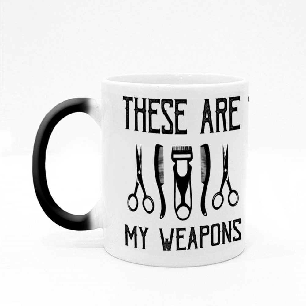 These Are My Weapons Magic Mugs