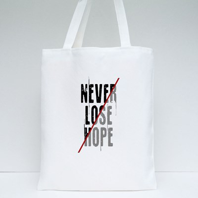 Never Lose Hope Typography 帆布袋