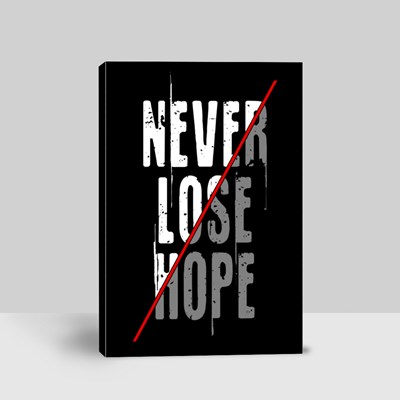 Never Lose Hope Typography 帆布畫(縱向)