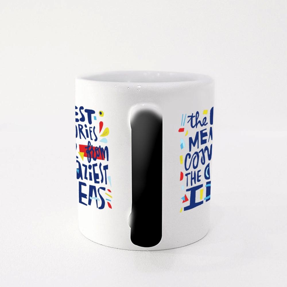 Motivational Cut Out Quote Magic Mugs