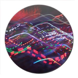 Colorful Abstract Coaster