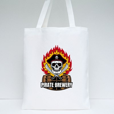 Pirate Brewery With Skull 帆布袋