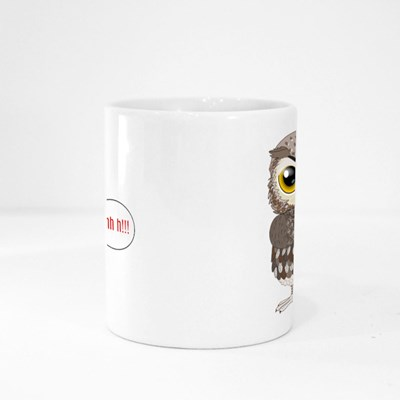 Owl Shushing Shhh to Politely 魔法杯