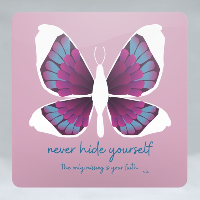 Faith in Butterfly Edition Coasters (Square)