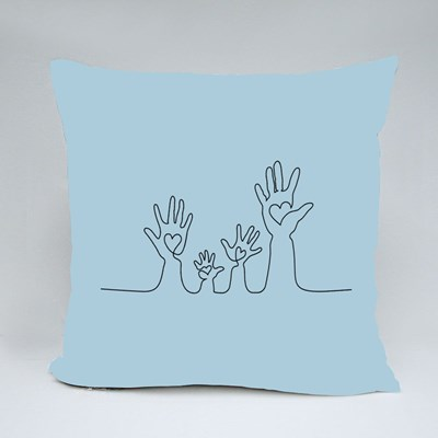 Family Hands Holding Hearts 抱枕