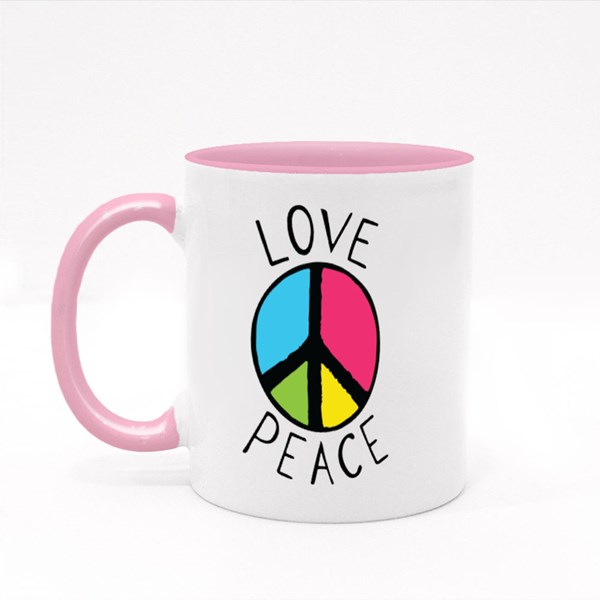 Love and Peace Logo 彩色杯