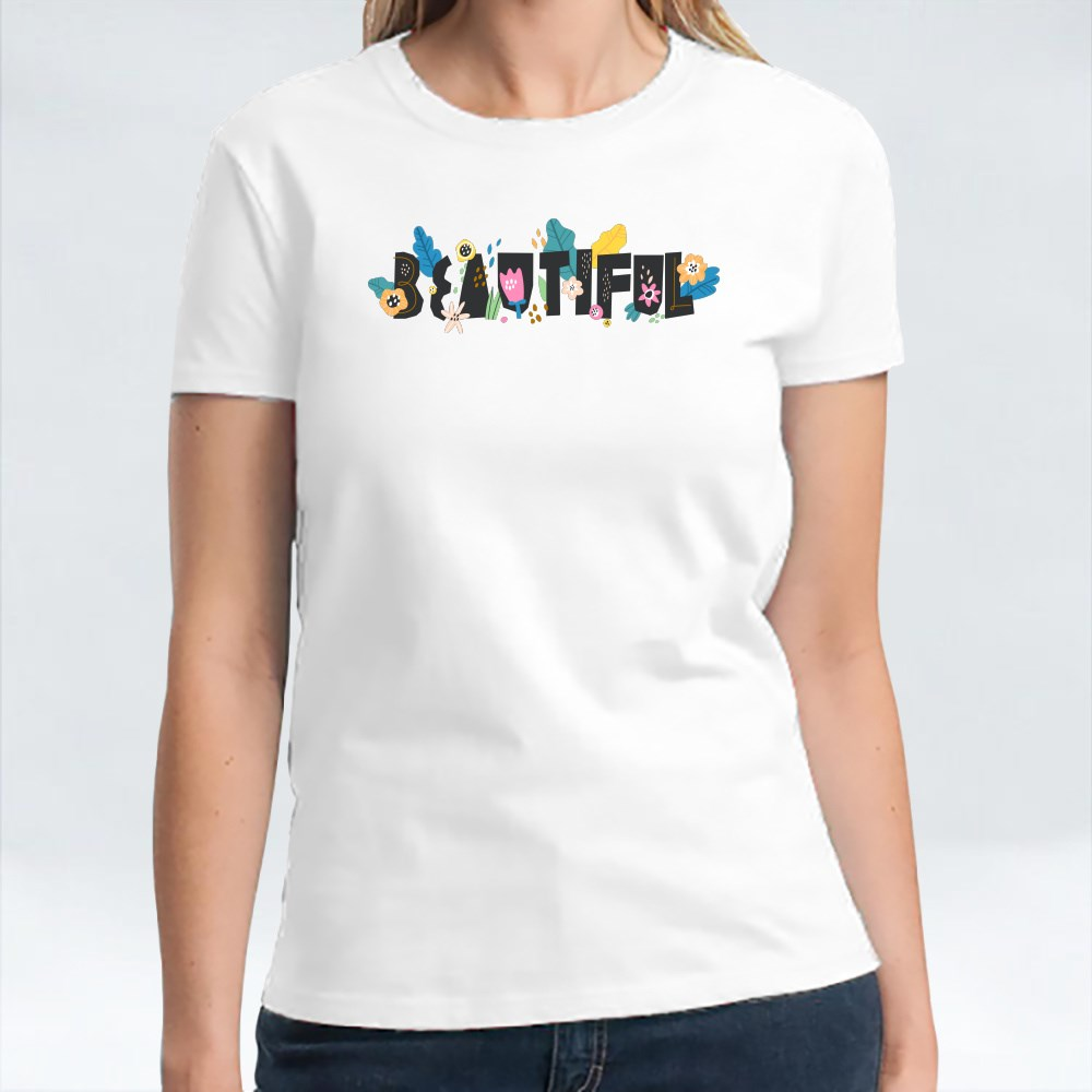 Beautiful Floral Words T-Shirts
