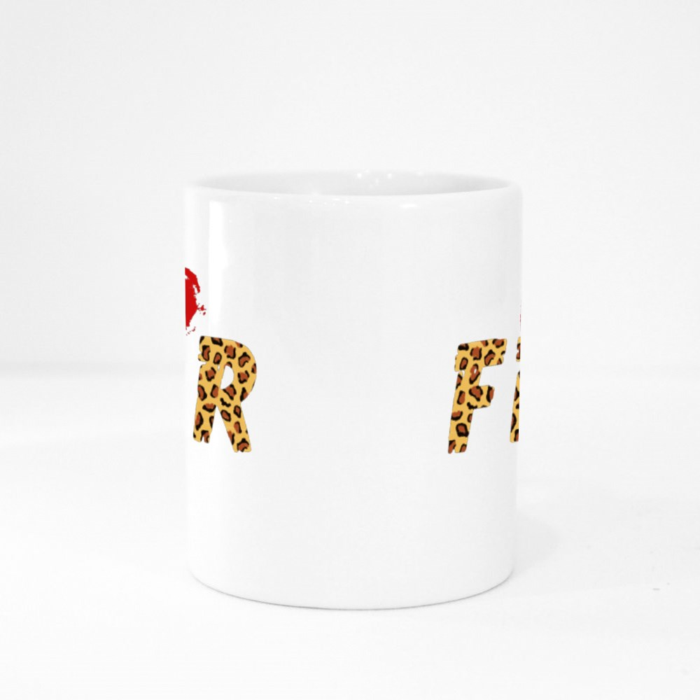 No Fear With Leopard Skin Colour Mugs