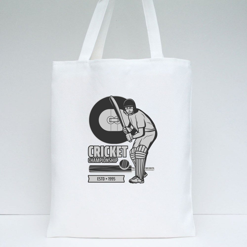 Cricket Sports Icons Tote Bags