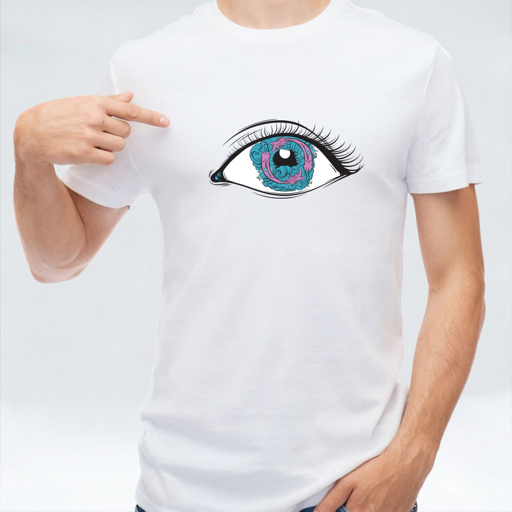 Eyes With Fish and Waves T-Shirts
