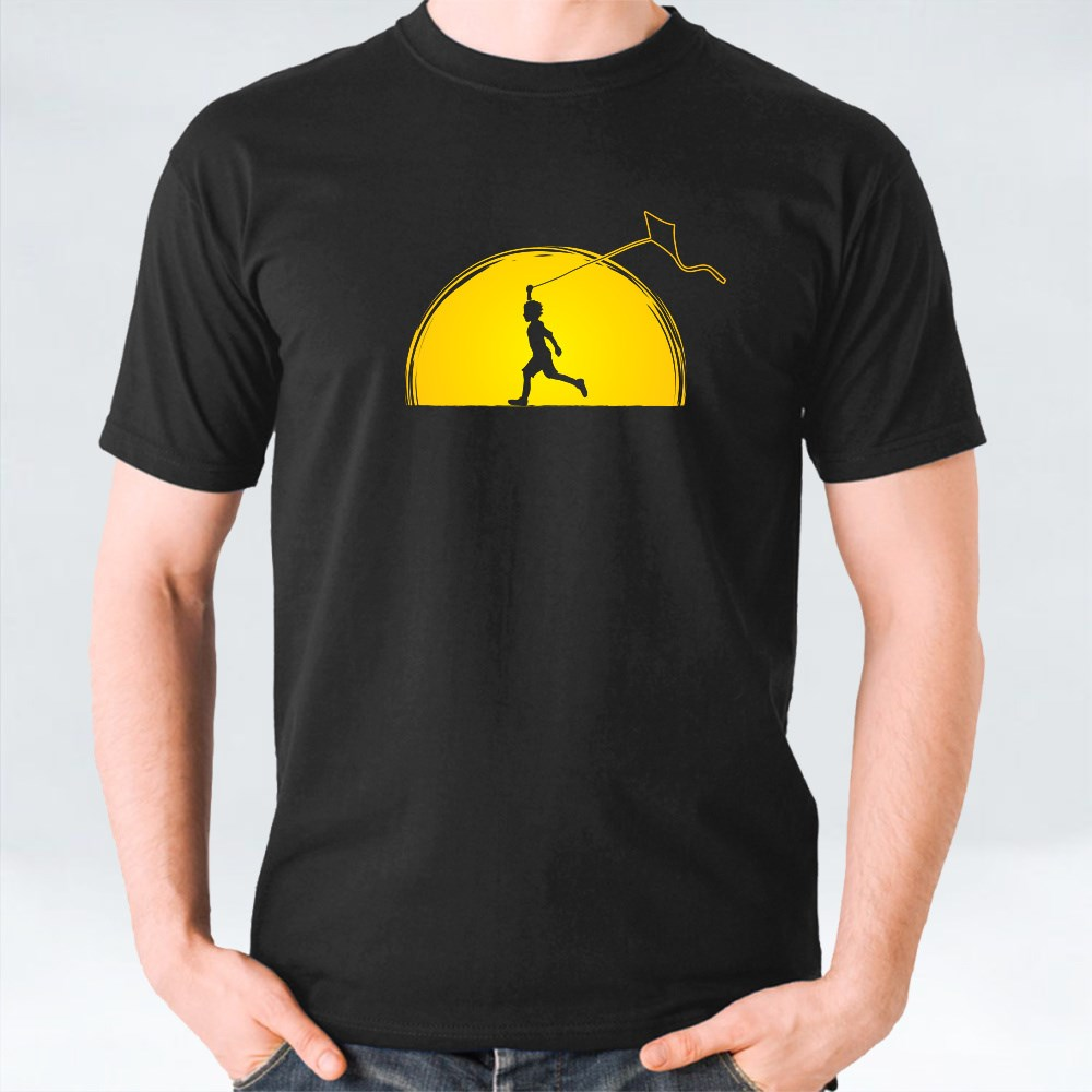 Little Boy Running With a Kite T-Shirts