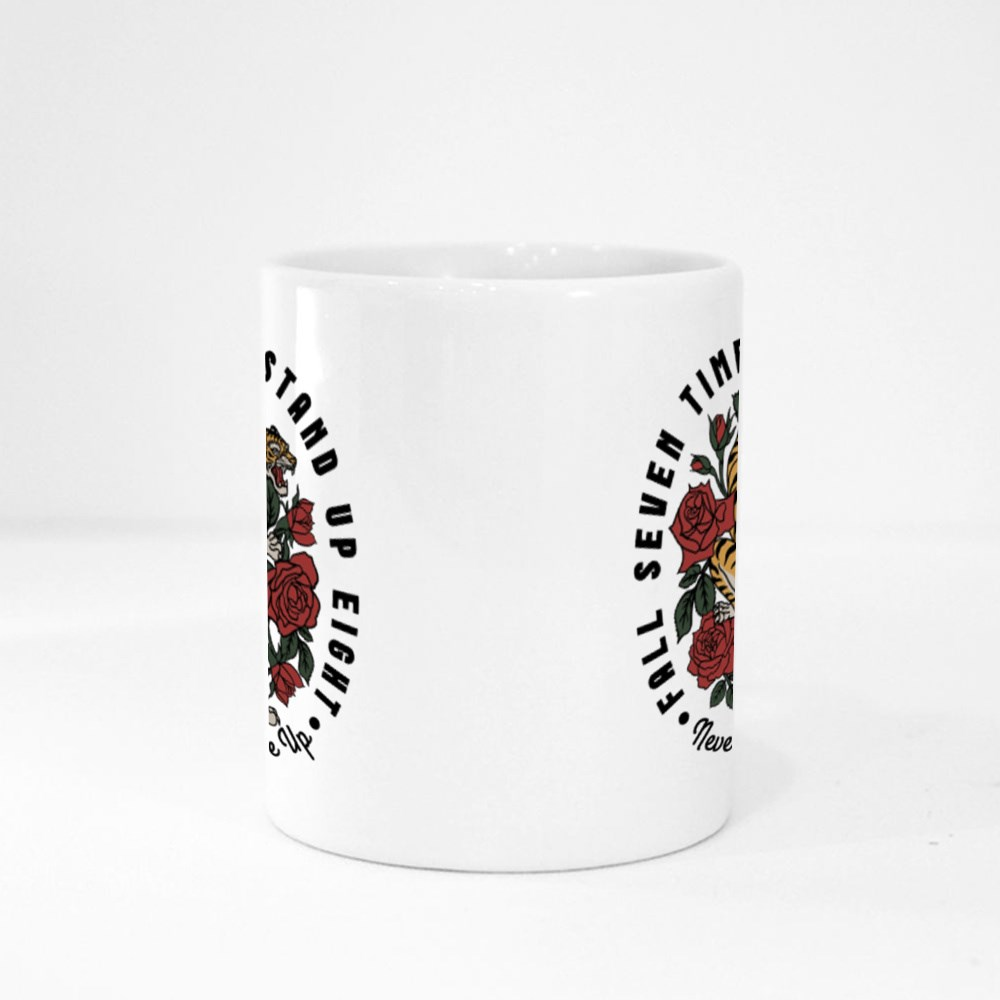 Fall Seven Times Stand up Eight Magic Mugs