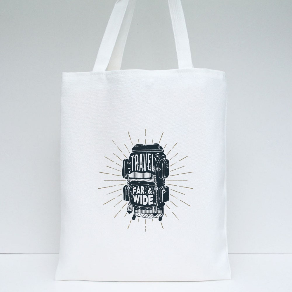 Travel Far and Wide Tote Bags