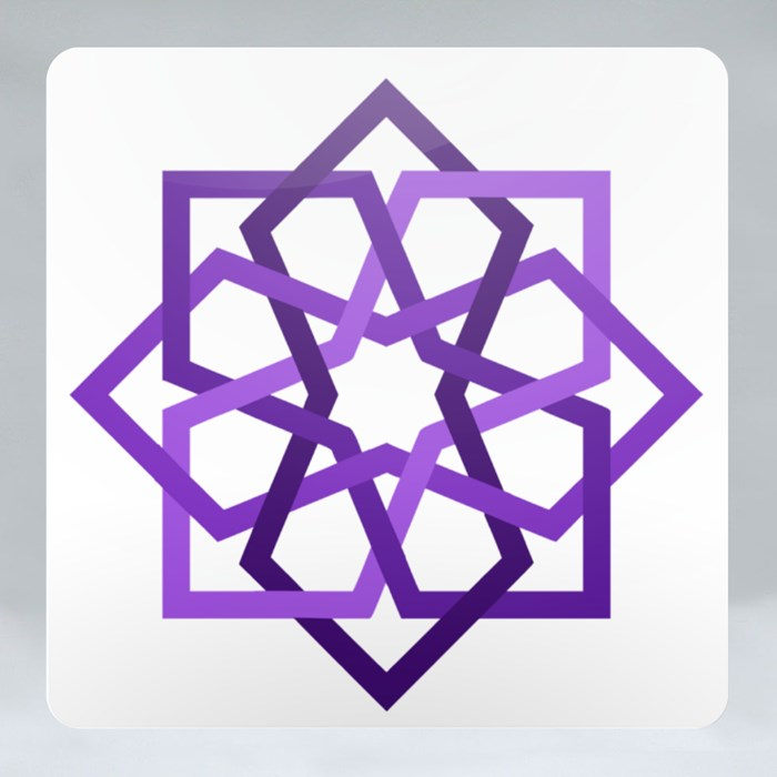 Purple 8 Fold Star With Islamic Art Pattern in Tiles Geometric Style Coasters (Square)
